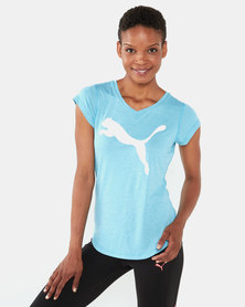 Puma Performance Heather Cat Tee Blue