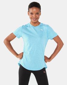 Puma Performance Ignite Heather Short Sleeve Tee Blue