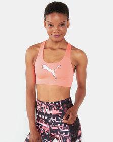 Puma Performance 4Keeps Mid Bra Pink