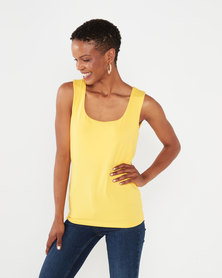 Queenspark Formal Core Knit Cami Yellow