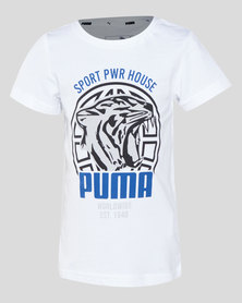 Puma Sportstyle Core Boys Alpha Graphic Tee White