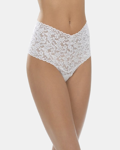 Hanky Panky Signature Lace Retro Lace Thong - Cream