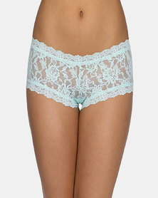 Hanky Panky Rolled Signature Lace Boy Short- Mint