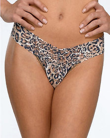 Hanky Panky Signature Lace Classic Leopard  Low Rise Thong - Brown Leopard Print