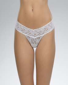 Hanky Panky Rolled Signature Lace Low Rise Thong - White
