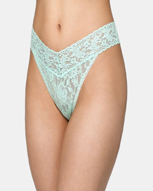 Hanky Panky Rolled Signature Lace Original Rise Thong - Mint