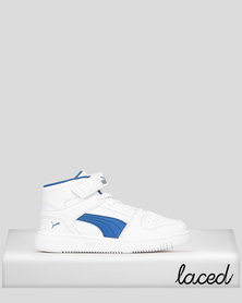 Puma Sportstyle Core Boys Puma Rebound Layup Sneakers White