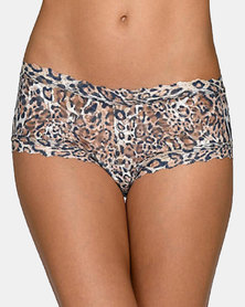 Hanky Panky Signature Lace Leopard Boy Short - Brown Leopard Print