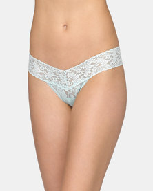 Hanky Panky Rolled Signature Lace Low Rise Thong - Mint
