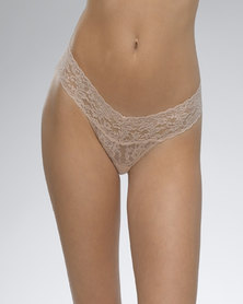 Hanky Panky Rolled Signature Lace Low Rise Thong - Light Skin
