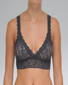 Hanky Panky Signature Lace Crossover Bralette - Charcoal