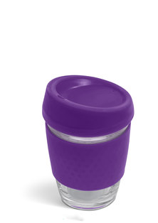 Always Summer Glass Travel coffee Cup Purple