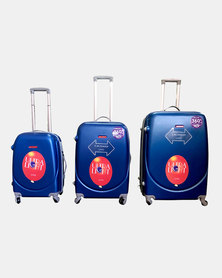 "HappyDeals 3 Pcs Luggage Set 28""/ 24""/ 20""-Blue"