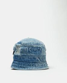 K-Star 7 Stone Wash Ripper Bucket Hat Blue