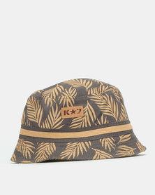 K-Star 7 Lugana Bucket Hat Charcoal/Tan