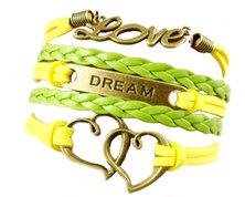 Urban Charm Summer Dream Infinity Bracelet - Luminous Green, Yellow