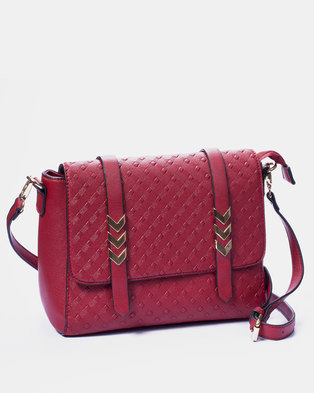 Louis Cardy Handbag Burgundy