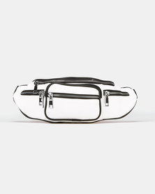 Blackcherry Bag Zipped up Waist Bag White