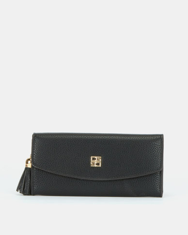 Blackcherry Bag Tassel Detail Wallet Black
