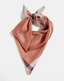 Blackcherry Bag Border Silky Scarf Nude