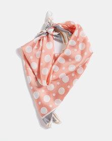 Blackcherry Bag Dotty Silky Scarf  Pink