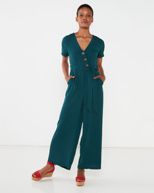 New Look Wide Leg Jumpsuit Teal