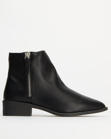 New Look Pointy Zip Boots Black