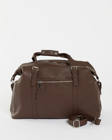 New Look Mid Pebble Grain Hold All Bag Brown
