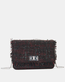 New Look Bianca Boucle Chain Shoulder Bag Black