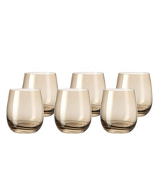 Leonardo Drinking Glass Tumbler Chestnut Brown SORA Set of 6