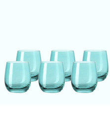 Leonardo Drinking Glass Tumbler Lagoon Blue SORA Set of 6