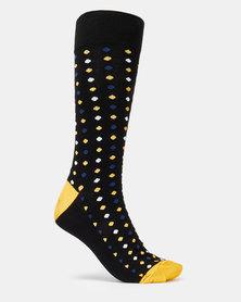 JCrew Dot Design 3 Pack Socks Yellow Multi