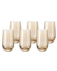Leonardo Tall Drinking Glass Chestnut Brown SORA Set of 6
