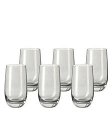 Leonardo Tall Drinking Glass Basalt Grey SORA Set of 6