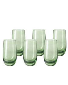 Leonardo Tall Drinking Glass Green SORA Set of 6