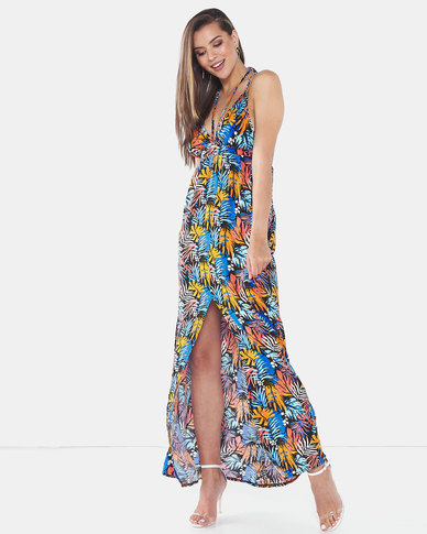 Legit Tropical Strappy Maxi Dress Multi