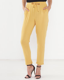 Legit Drapey Tapered Pants Mustard