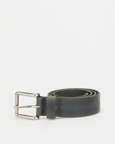Paris Belts Leather Burnished Jean Belt Black