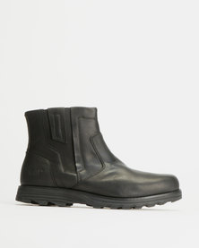 Caterpillar Converge Casual Slip On Leather Boots Black