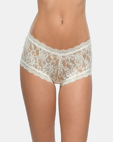 Hanky Panky Rolled Signature Lace Boy Short- Cream