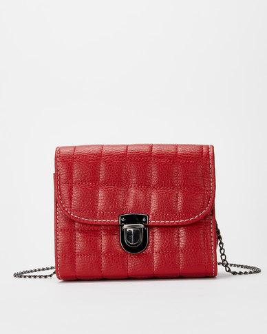 Utopia Chain Strap Crossbody Bag Red