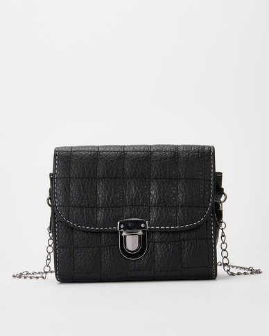 Utopia Chain Strap Crossbody Bag Black