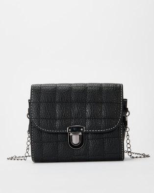 Utopia Chain Strap Crossbody Bag Black