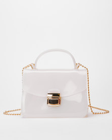 Utopia Small Jelly Crossbody Bag White