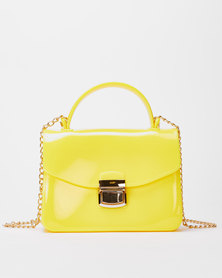Utopia Small Jelly Crossbody Bag Yellow