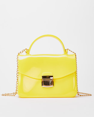 Utopia Small Jelly Crossbody Bag Yellow