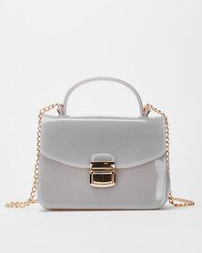 Utopia Small Jelly Crossbody Bag Grey