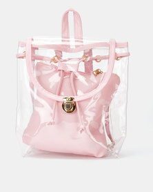 Utopia Transparent Backpack Pink