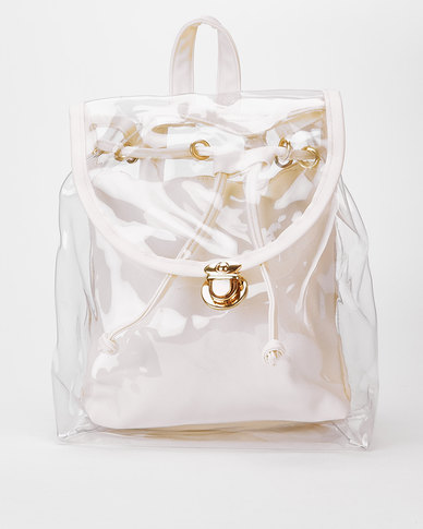 Utopia Transparent Backpack Off White