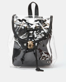 Utopia Transparent Backpack Black